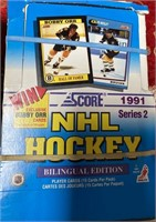 N - LOT OF 4 BOXES OF HOCKEY CARDS (H)