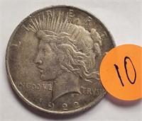 1922 - PEACE SILVER DOLLAR (10)