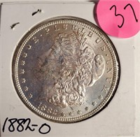 """1882 """"O"""" - MORGAN SILVER DOLLAR (37)"""