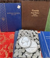 N - LOT OF EMPTY COIN BOOKS - SEE PICS (B15)