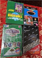 N - LOT OF 4 BOXES OF COLLECTOR BASEBALL CARDS (N)