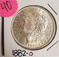 """1882 """"O"""" - MORGAN SILVER DOLLAR (40)"""