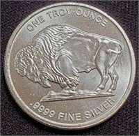 1.0oz SILVER BUFFALO COIN - MINT COND.
