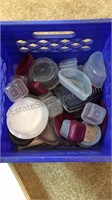 Crate full of Plastic Containers