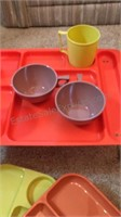 Plastic Cups & Tray Plates