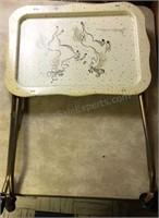 Vintage Metal Tray Table