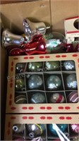 Box lot of Vintage Christmas Ornaments