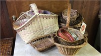 Lot of Wicker Baskets