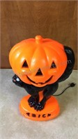 Vintage Trick or Treat Halloween Blow Mold