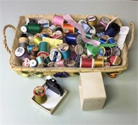 Basket of Thread & Automatic Needle Threader