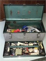 Metal tool Box W/ Contents