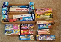 lot of Ziploc, Hefty, Reynolds Storage Bags and
