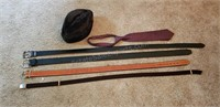 Belts, Hat, and Tie