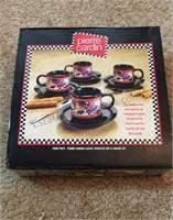 4 Piece Cup & Saucer Set