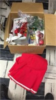 Box lot of Christmas Decorations