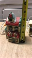 Lot of Small Christmas Village Houses