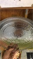 Glass Turkey  Platter