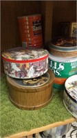Lot of Tins & Coffee Cans
