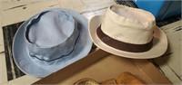 Vintage Baseball Glove, Wrestling Helmet, & Hats