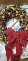 Nutty Pine Cone Wreath