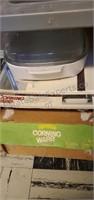 Vintage Corning Ware & Cutting Board Lot