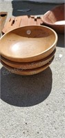 Misc Ashtrays, Wood Bowls & More Lot
