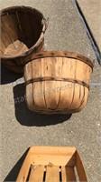 Lot of Bushel Baskets