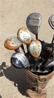 Golf Clubs W/ Bag Mostly Drivers / Woods