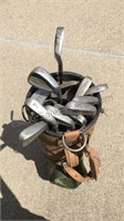 Misc Golf Clubs Putters & Irons (Damaged Bag)