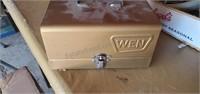 Vintage Wen Power Sander w/ Metal Storage Box