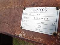 Martens model 52, 52' harrow,