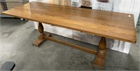 766 - SOLID WOOD TABLE - NO CHAIRS