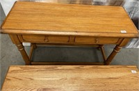 333 - SOLID WOOD ENTRYWAY TABLE & COFFEE TABLE