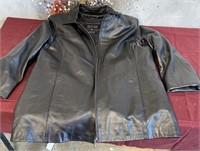 BLACK LEATHER XL THINSULATE - ZIP OUT VEST (6)