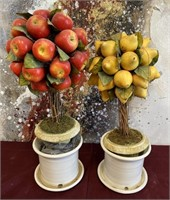 11 - LEMON & APPLE TREE DECOR - MINOR DAMAGE