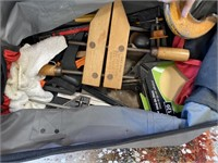 26 - BAG FULL OF CLAMPS;TOOLS;PLANER & MORE