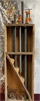 26 - LONG CLAMPS; PIPES & WOOD HOLDER