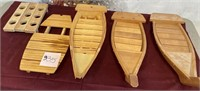 335 - LOT OF WOODEN BOATS - SEE PICS