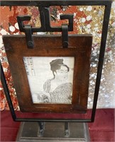11 - COLLECTOR PLATES;STRIPPED VASE & ASIAN FRAME