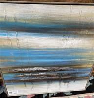 43 - NEW WMC BLUE/WHITE/BLACK WALL ART