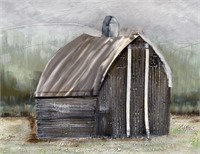 43 - NEW WMC BARN SETTING CANVAS ART ($89.95)