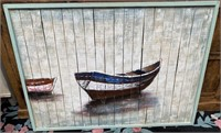 43 - NEW WMC WOODEN WALL ART OF BOAT