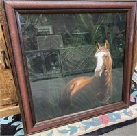 43 - NEW WMC FRAMED HORSE WALL ART