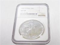 1987 American Eagle, Silver 1 Dollar