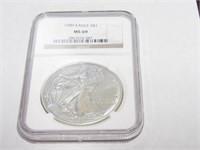 1989 American Eagle, Silver 1 Dollar