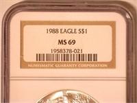 1988 American Eagle, Silver 1 Dollar