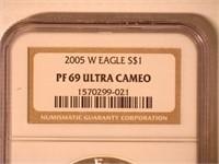 2005 American Eagle, Silver 1 Dollar Proof