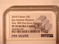 2019 Washington San Antonio Missions .999 Silver