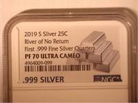 2019 Washington River of No Return .999 Silver