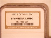 1992 Comm. 50c, Silver 50 Cents Olympics